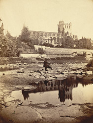 Jedburgh Abbey, From The River